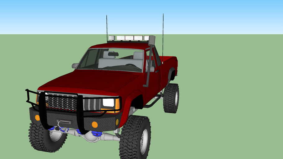 jeep commanche (unfinished bout 80% done)