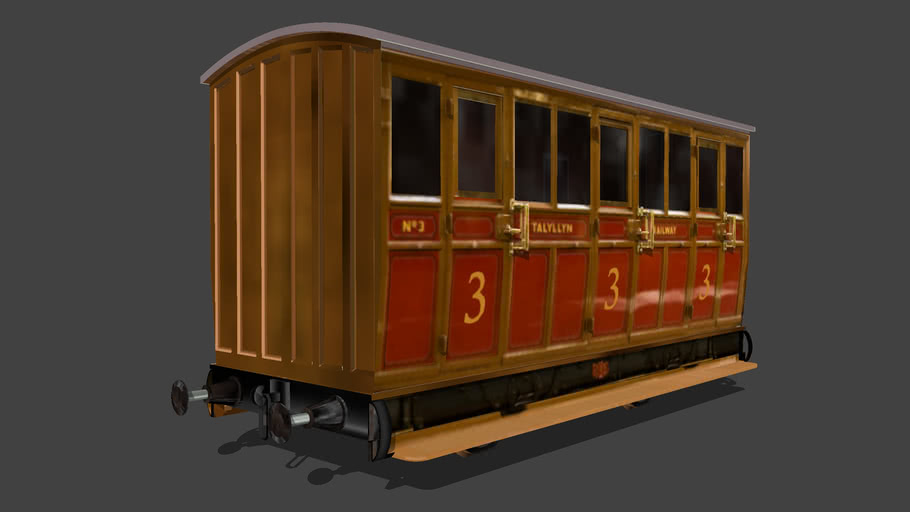 """Eco Rail.. N/Gauge""...""TALYLLYN""   ... 3rd Class... UPDATED!...  Old Steam Days.."