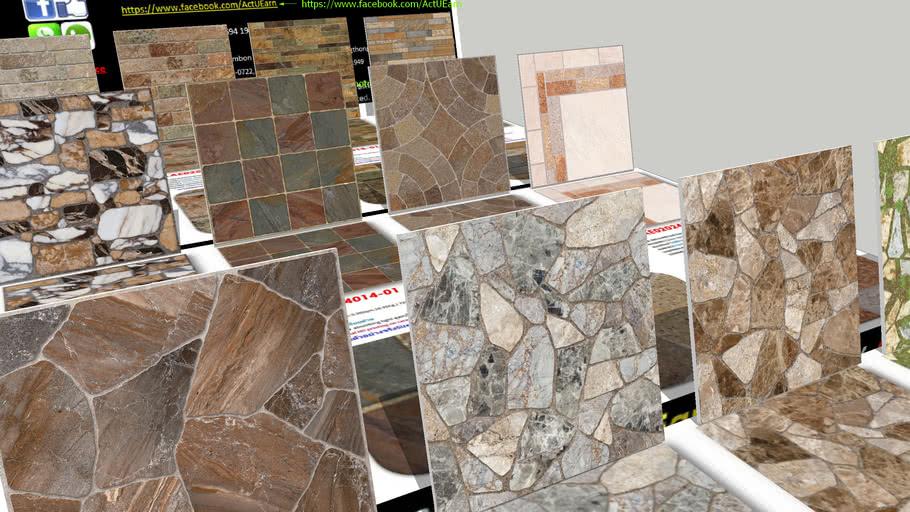 กระเบื้อง Digital Printing HD Ceramic Tiles ActUEarn3D Catalogue Part008