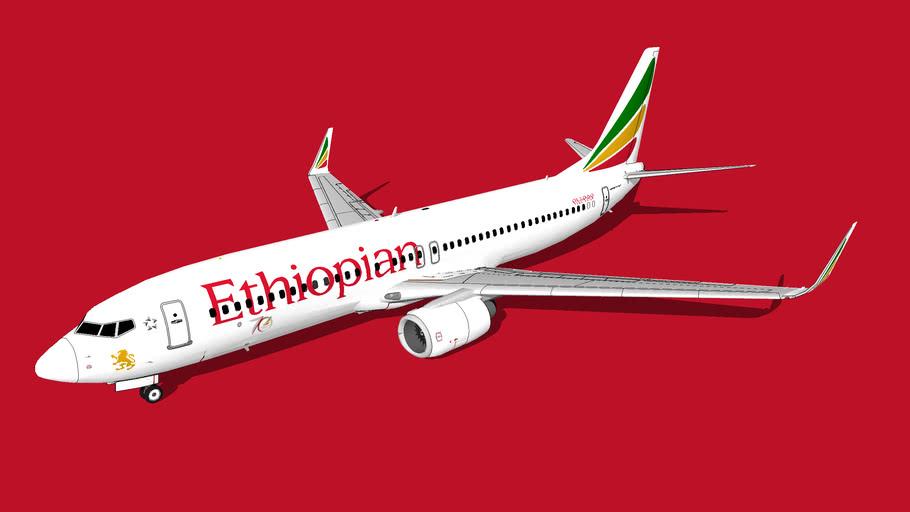 Ethiopian Airlines (የኢትዮጵያ አየር መንገድ) Boeing 737-860(WL)