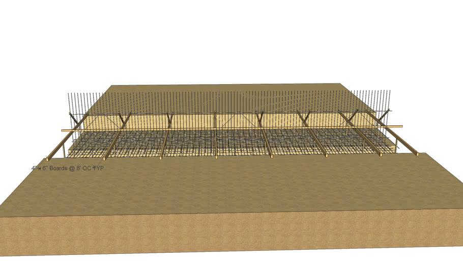 Rebar wall dowel template