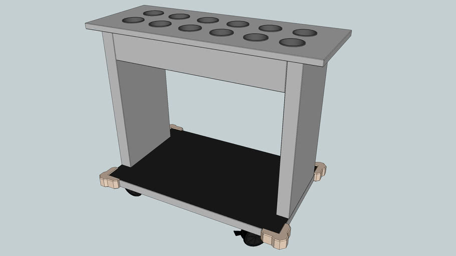 Tray and Flatware Cart