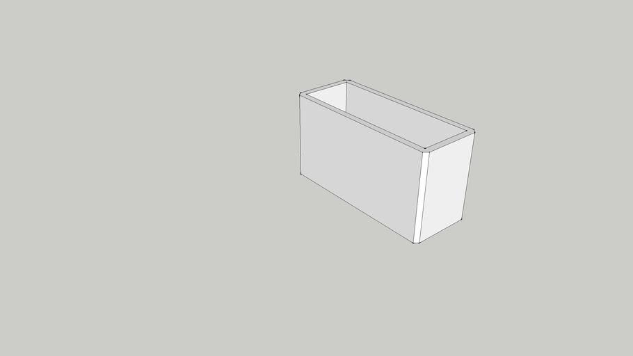 RECHTHOEKIGE BUIS 40x20x2