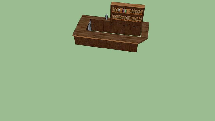 šank drveni
