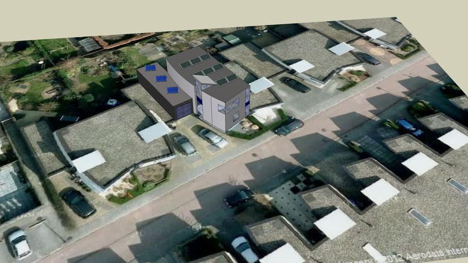Huis in Almere met zonnepanelen