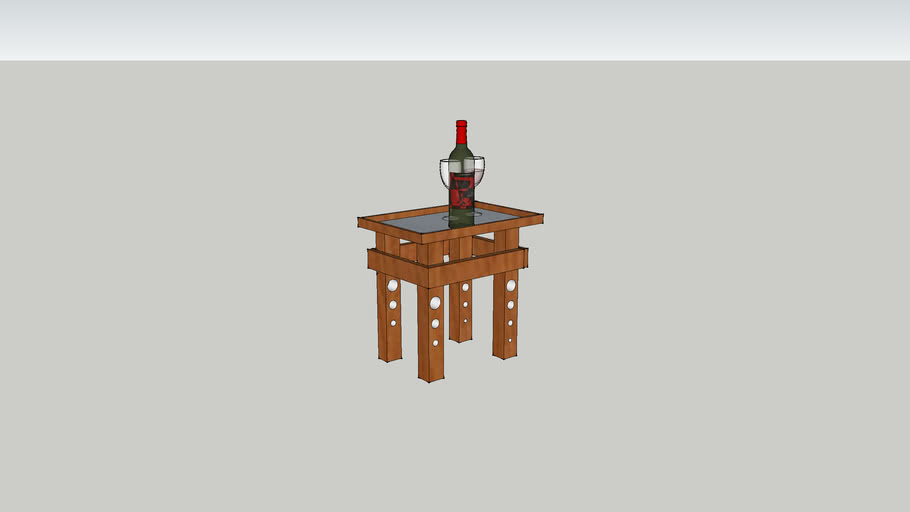 Small Table with wine