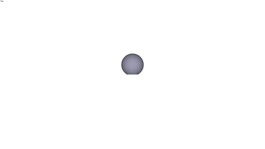 Ball knob form C - M12 ext. Ø 40 mm