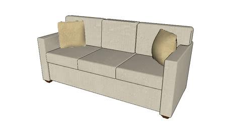 Sofa_Modern_3_Cushion (Ivory)