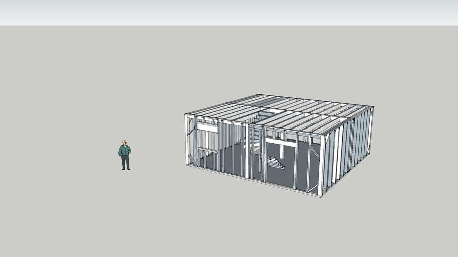 Maison ossature bois Rubic8 rdc version 2