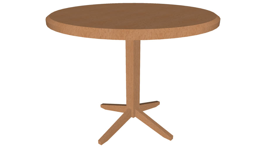 Dining Table Round 36in - Detailed