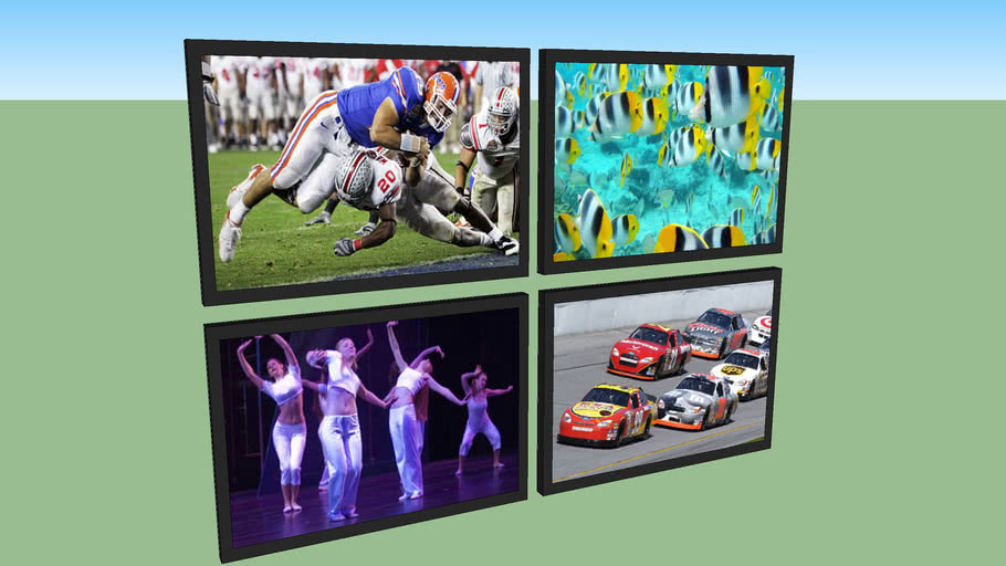 Flat Screen TVs with Images