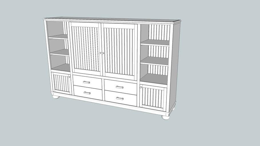 Medium size TV cabinet with doors