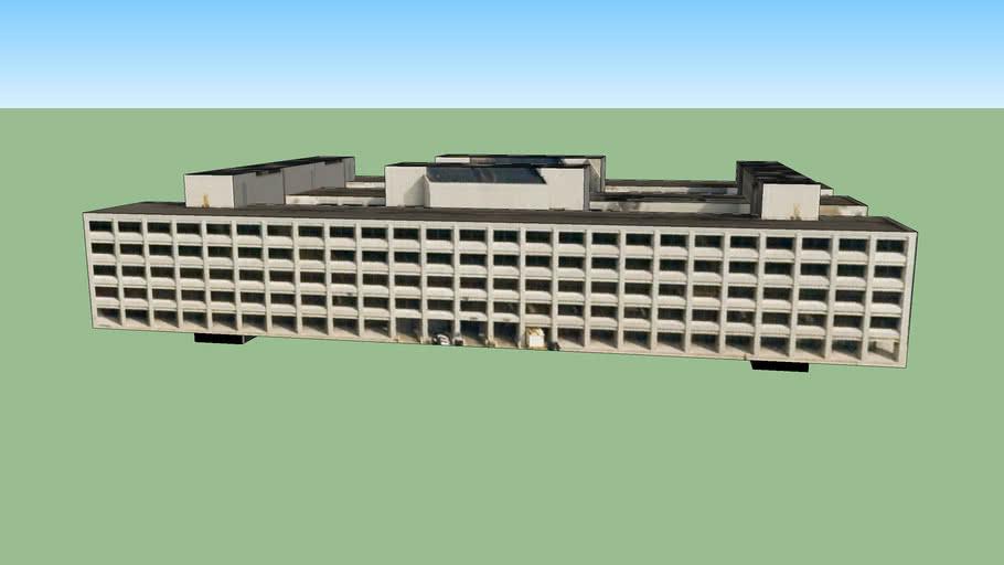 底特律, 密歇根州, 美国的建筑模型