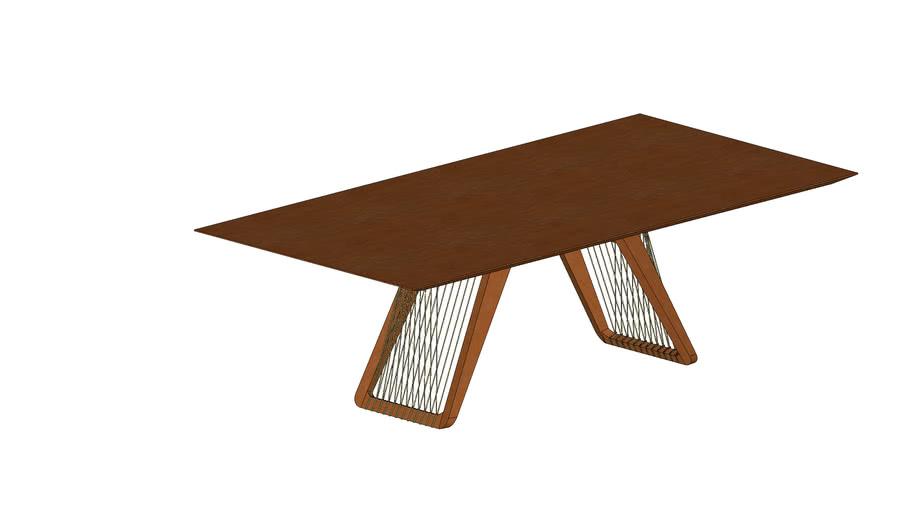 Mesa jantar Nepal com corda