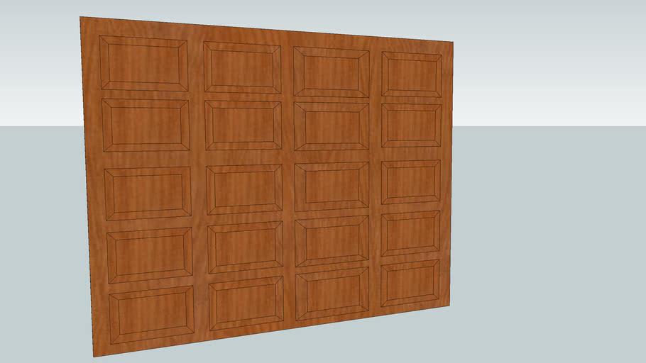 Garagedoor wood