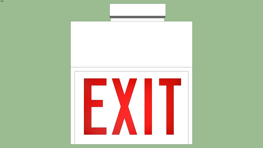 Nicko Classic Series Exit Sign