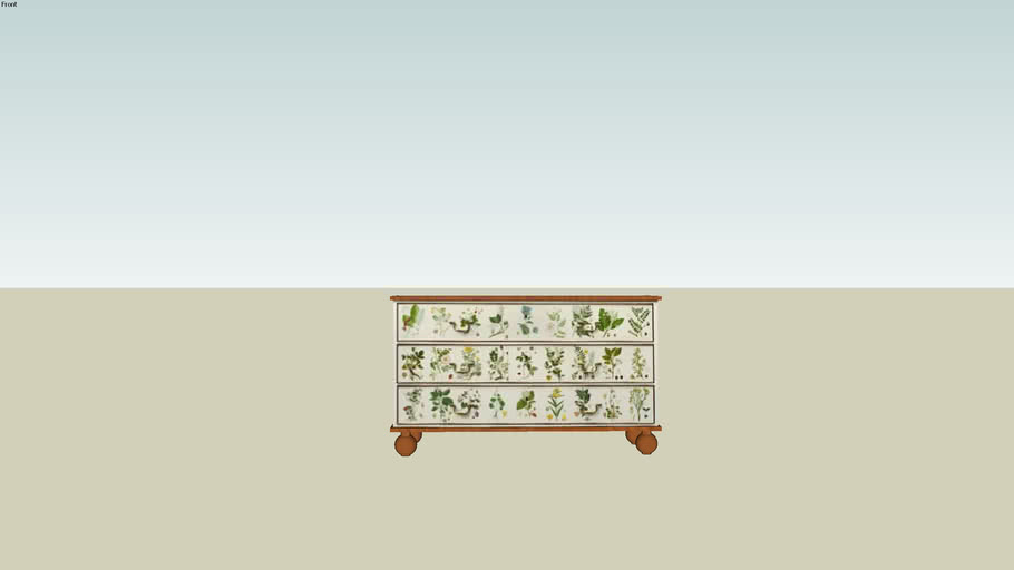 Florabyrå / Flora chest of drawers by Josef Frank / Svenskt tenn