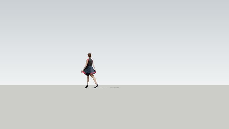 People 2D Woman walking away