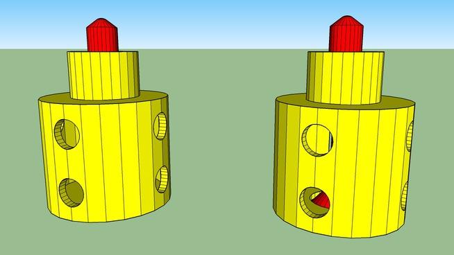 Valve pin hammer air burst
