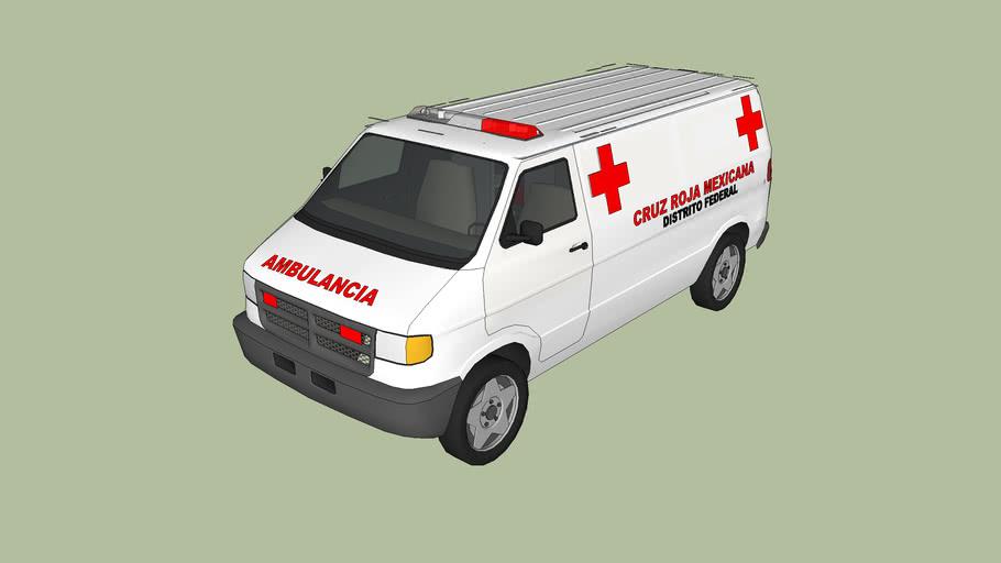 ambulancia de la cruz roja mexicana de la ciudad de mexico distrito federal