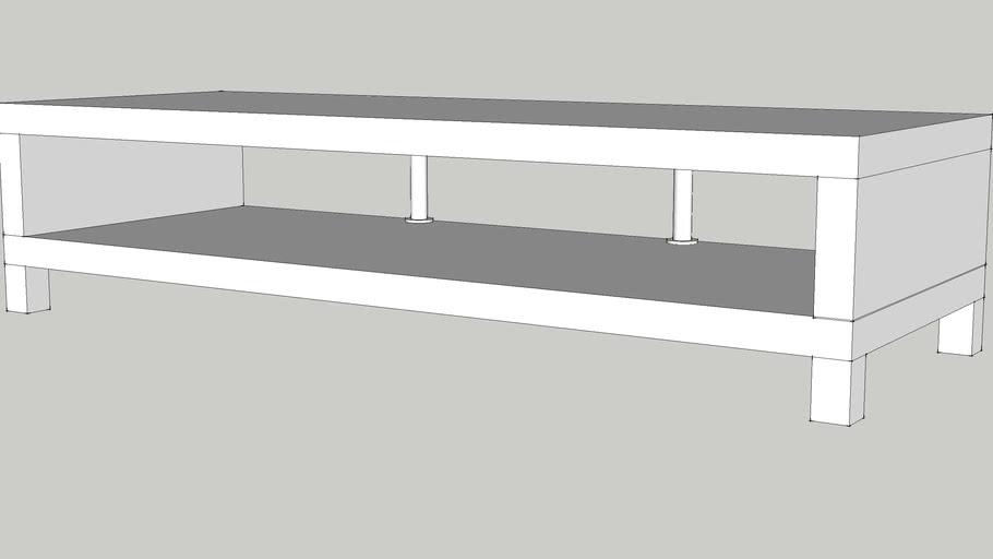 IKEA LACK TV bench white