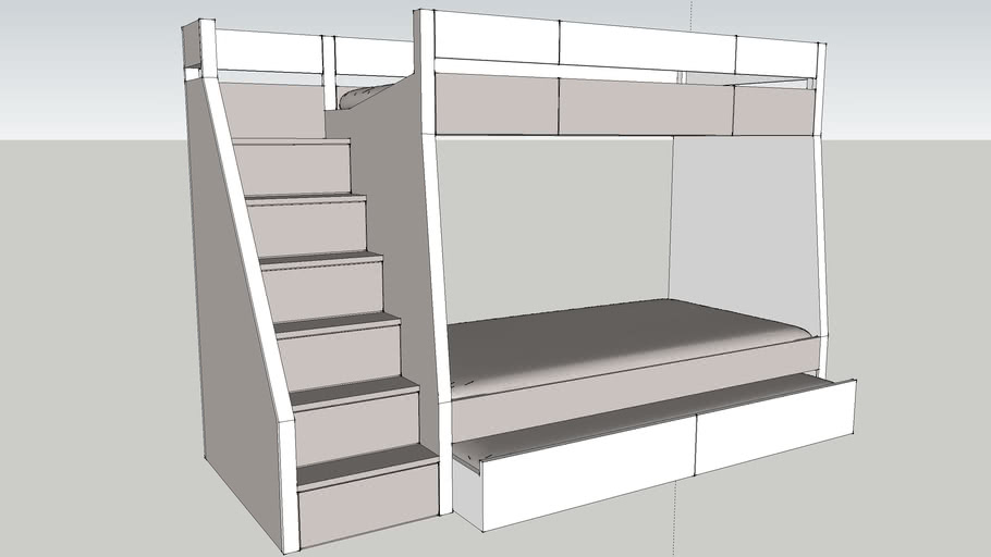 Bunk Bed With Pullout 3d Warehouse