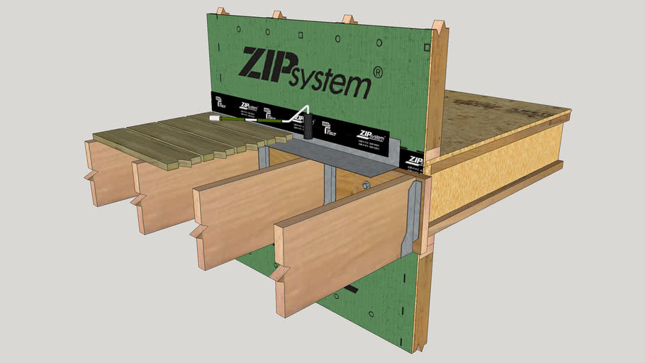 Deck Ledger with ZIP System
