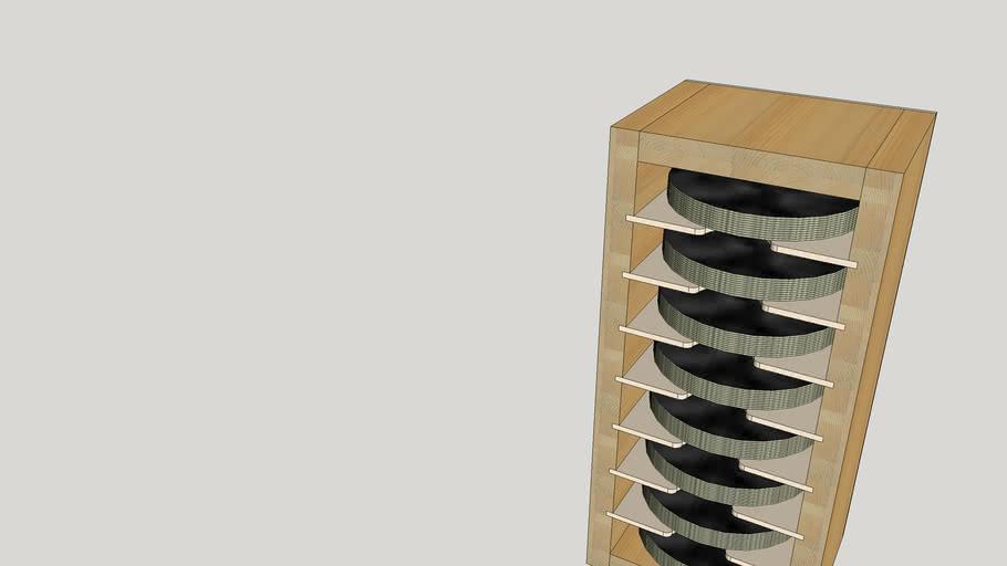 Schleifpapierregal für 125mm Exzenterschleifscheiben
