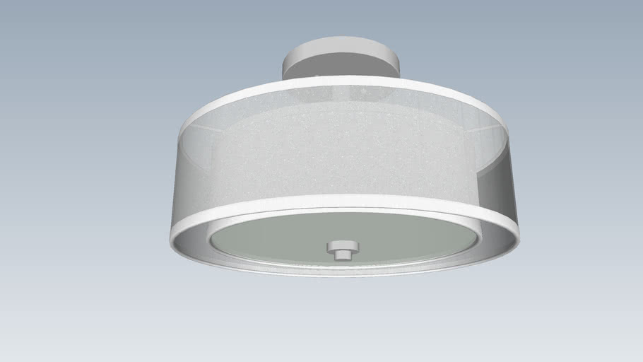 Minka Lavery - 15in Dia. Double Drum Ceiling Fixture