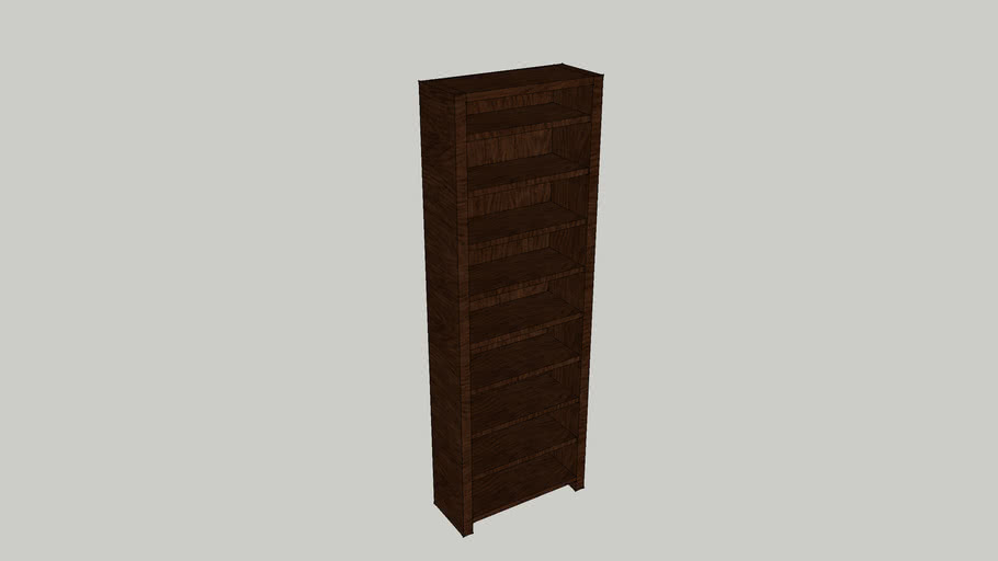 J&J Nelson Oak Bookcase - DARK OAK 2050h x 700w x 290d