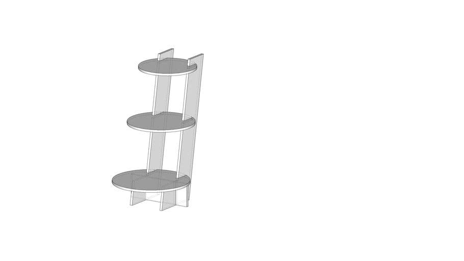 Acrylic Shelf Interlocking Disc Riser