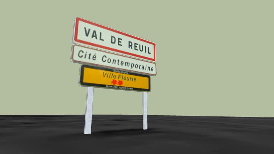 Panneau entrée d'agglomération - Val de Reuil
