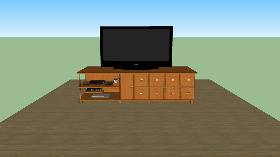 Mueble con:  play station 3 + 3 juegos + 2 controles + dvd y sus peliculas + tv de LCD 46 pulgadas