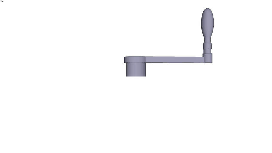 Straight handle with revolving handle 14