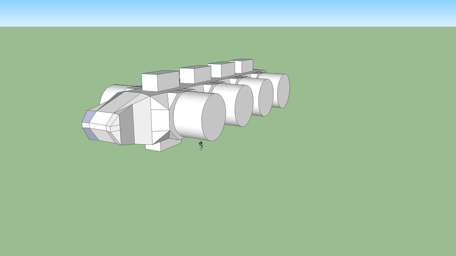 Sci Fi Space Container Ship