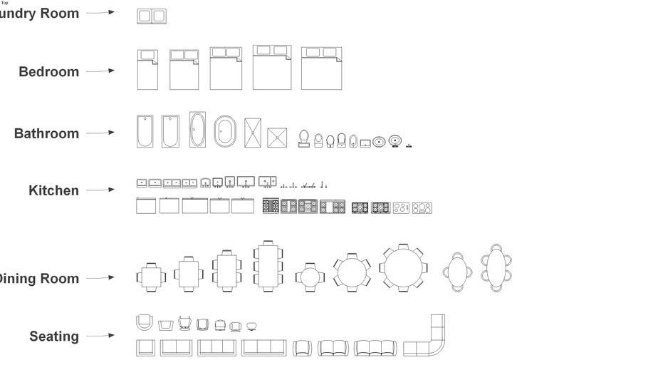 2D Interior Symbols (for Floor Plans