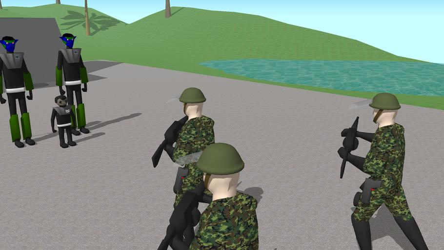 commander Kals Jendon greeted at grenata delta