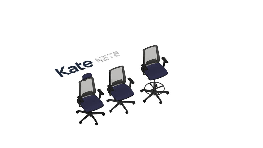 KATE Nets darba krēsli