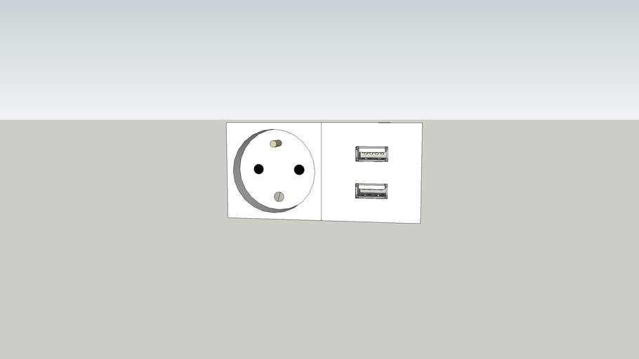 socket (220V EU + Usb)