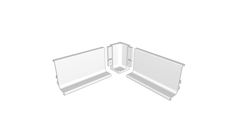 Slim Gola 90° internal corner for Profile 8006