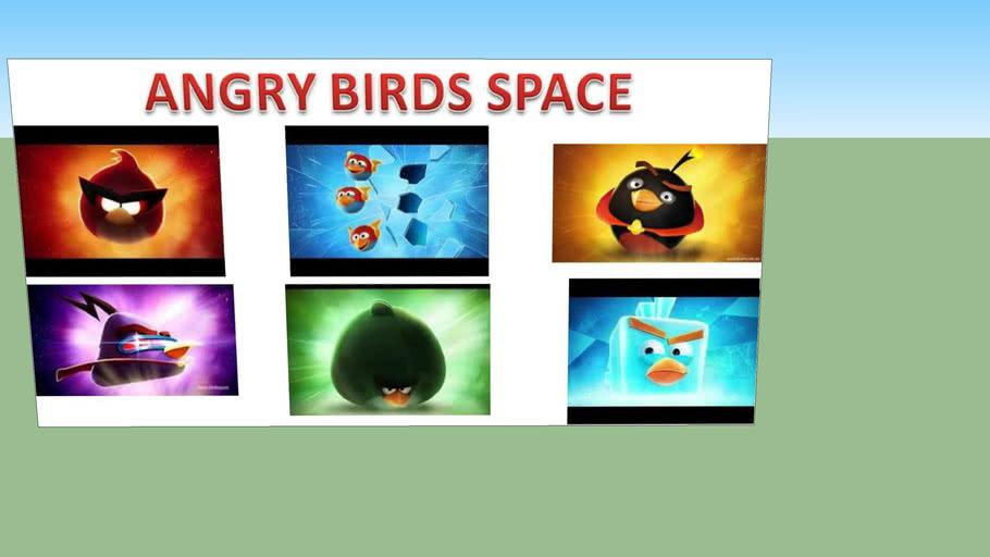 angry birds space: birds' photos on a table