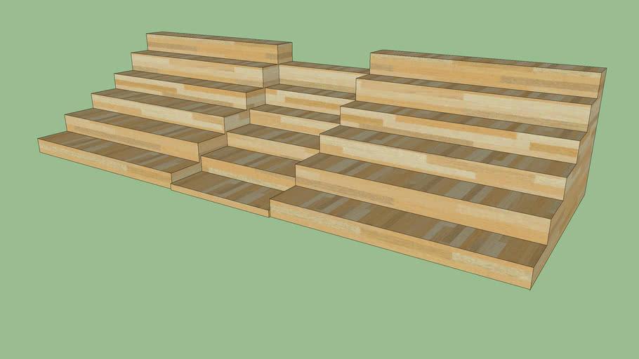 Lindskole trappe fra tovet