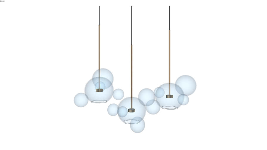 Bolle BLS 14L Chandelier light pendant modern by Giopato Coombes