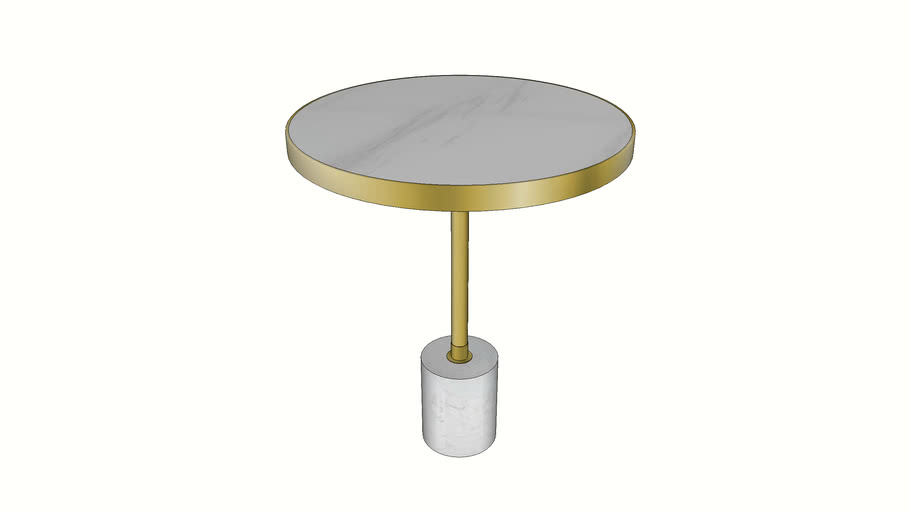 84737 Side Table San Remo Base White 46cm