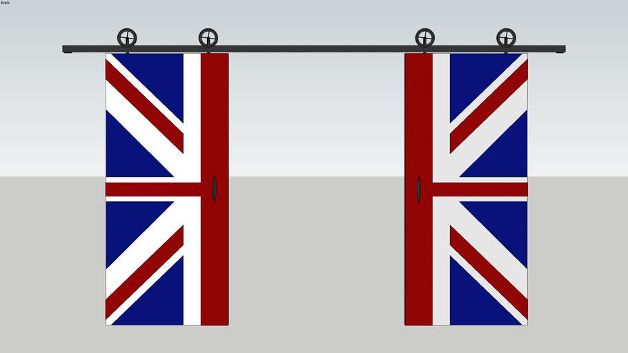 Sliding door, English flag