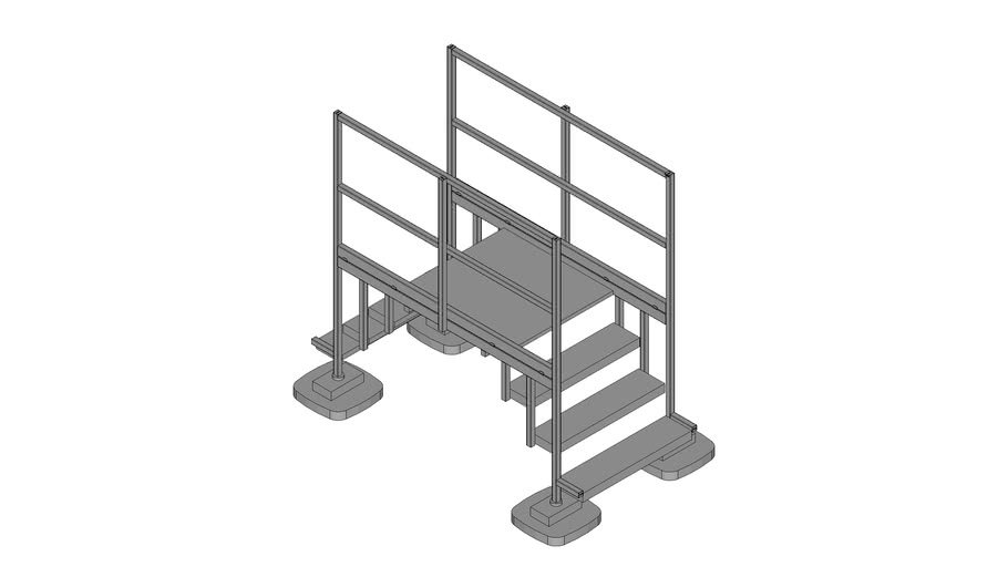 Walraven BIS Yeti® - roof step over, stair modular set, standing on roof layers, H100 W100_L100