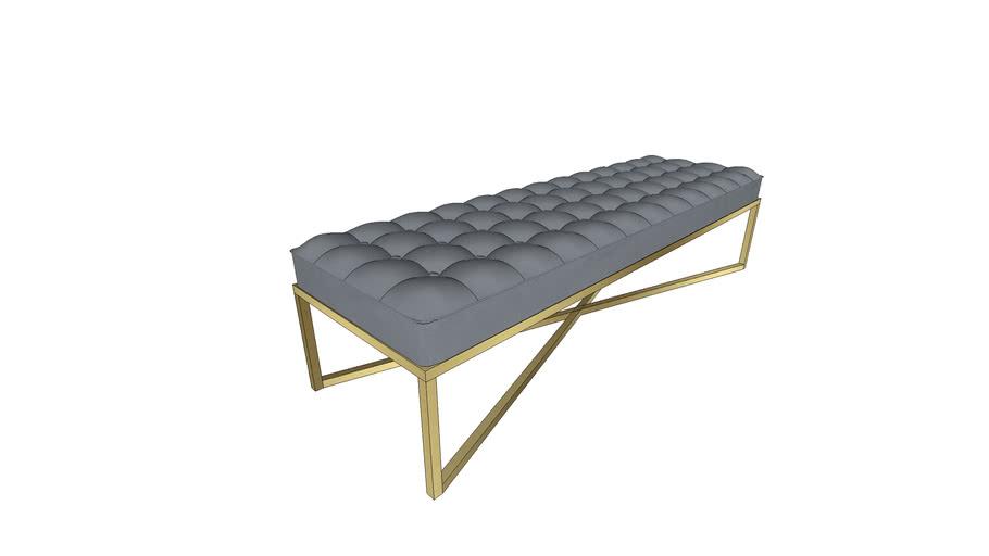 Ottoman bench brass frame modern 2