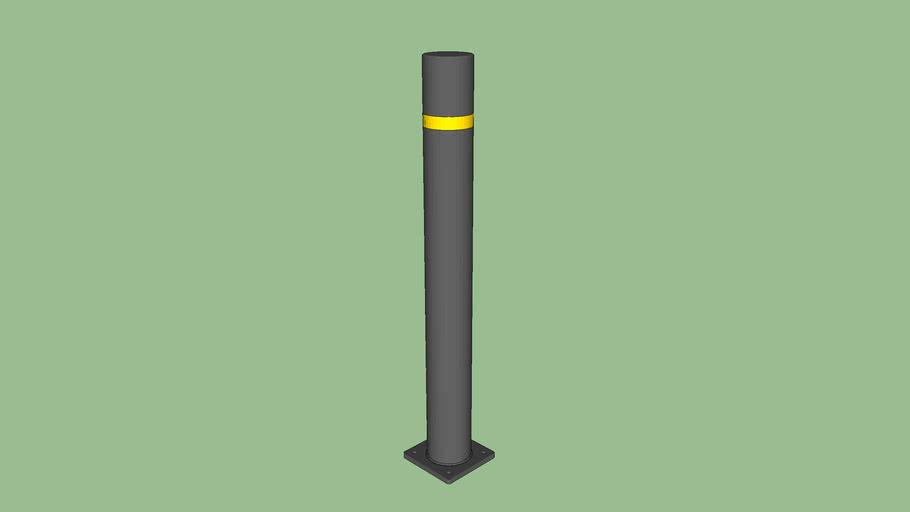 R-8302-FL Flexible Bollard - Flanged