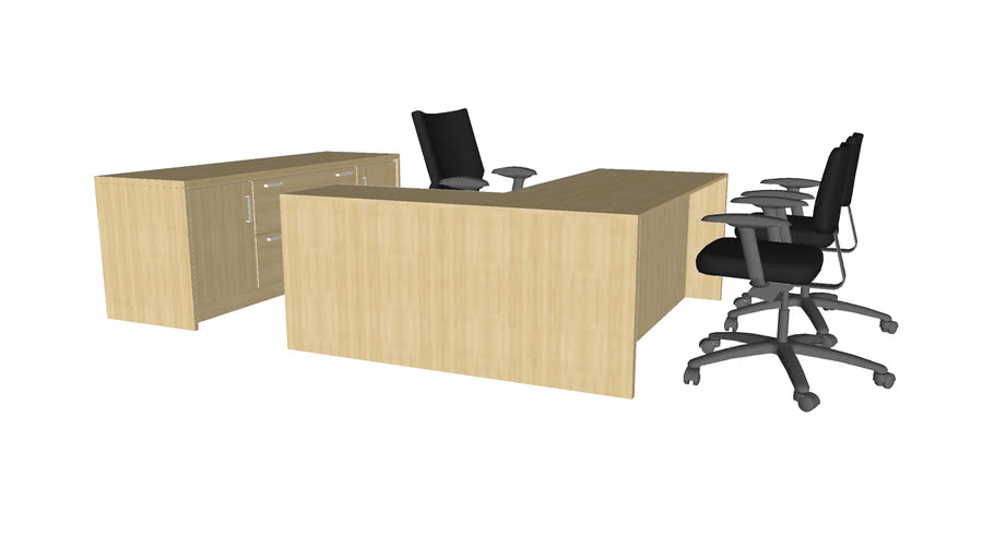 Office Suite Desk Set - Detailed