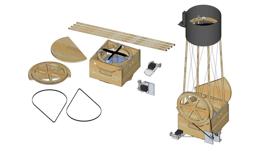 """Don's 12.5"""" String Telescope"""